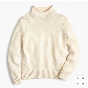 NWT JCrew Women's 1988 rollneck sweater warm ivory